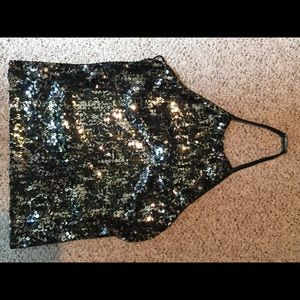 Backless holiday top